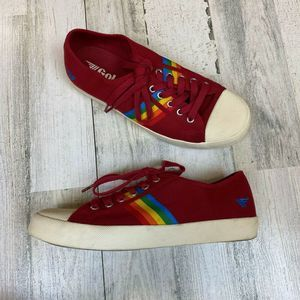 Gola Coaster Red Rainbow Pride Sneakers